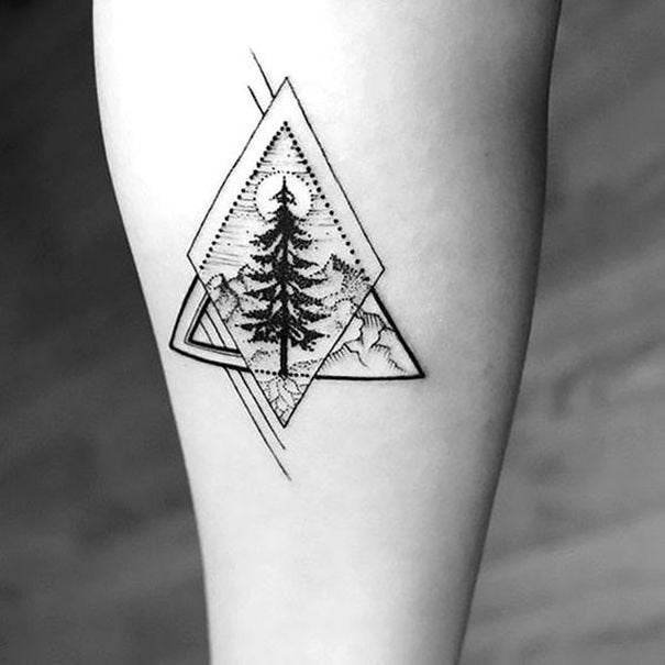 simple triangle tattoo