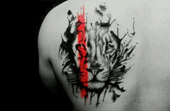 Tribal Lion Tattoo Design Art