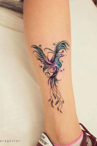 leg abstract colorful design collage tattoo art