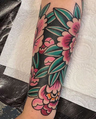 Orchid tattoo sleeve