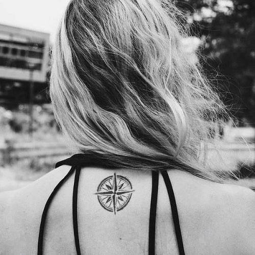 Compass Fake Tattoo