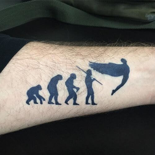 Evolution Fake Tattoo
