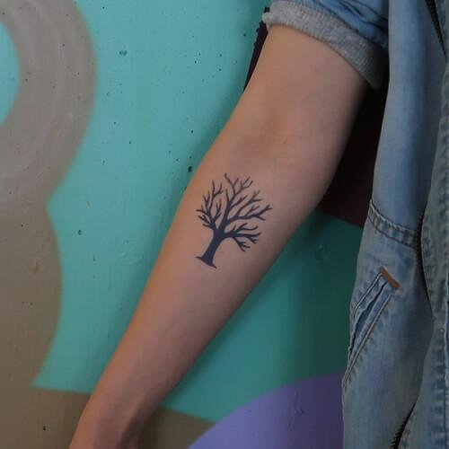 Tree Fake Tattoo