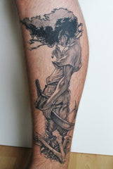 anime sleeve tatt