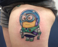 minion space tattoo