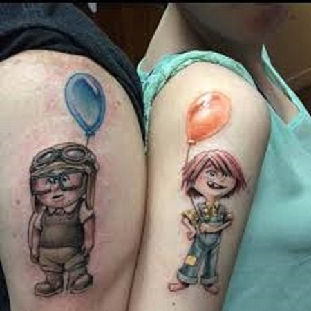up movie tattoo