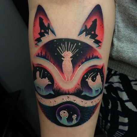 cat design tattoo
