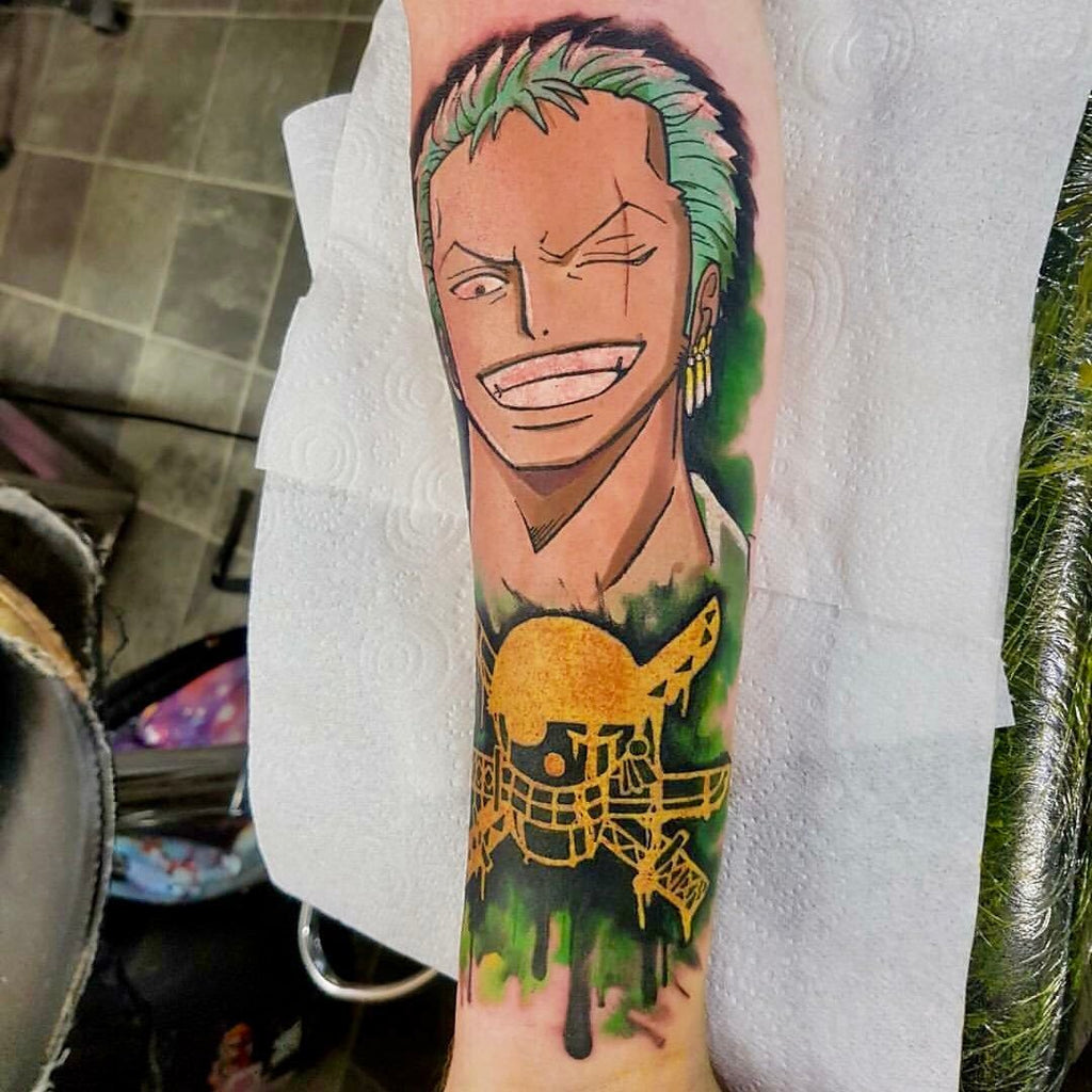 anime tattoo artwork