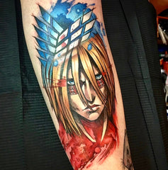 anime blonde man tattoo