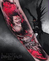 red collage tattoo