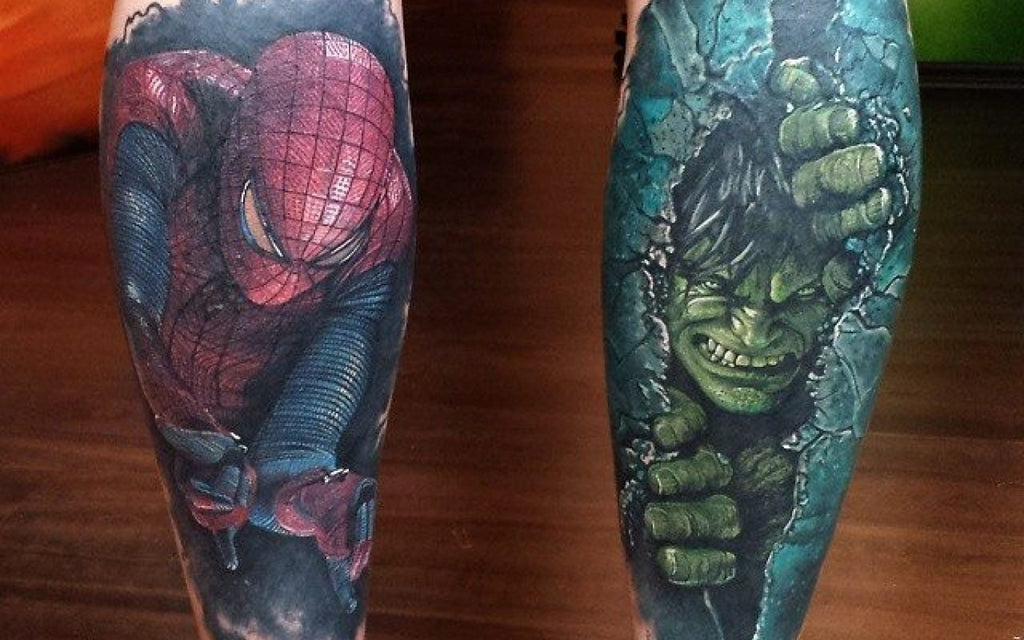 hulk spiderman tattoo