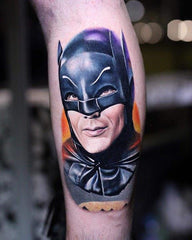 classic batman arm tattoo