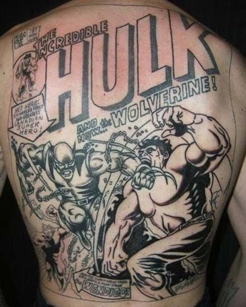 hulk comic tattoo