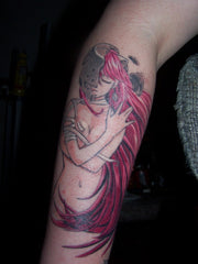 red geisha tattoo