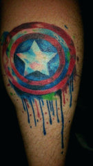 captain america shield tattoo design