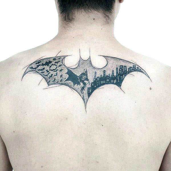batman logo design tattoo