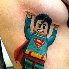 lego superman tattoo