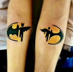 2 symbols batman tattoo