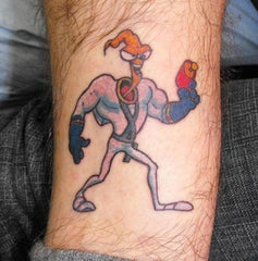 earthworm jim tattoo