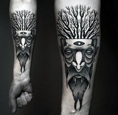 tree man tattoo