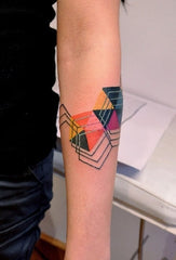 arm abstract colorful tattoo art