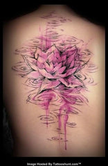 Rose abstract colorful tattoo photo