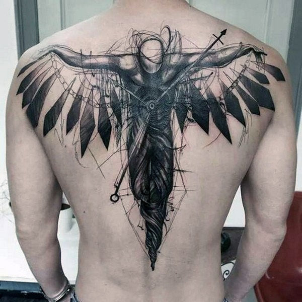 demon angel abstract design tattoo art
