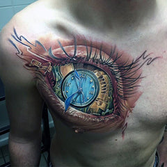 large eye tattoo