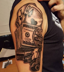 money cash tattoo
