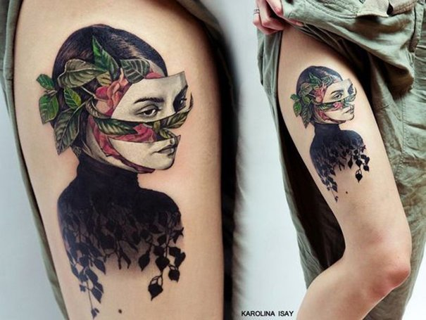 Woman tattoo design art