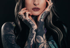 woman full tattoo photo