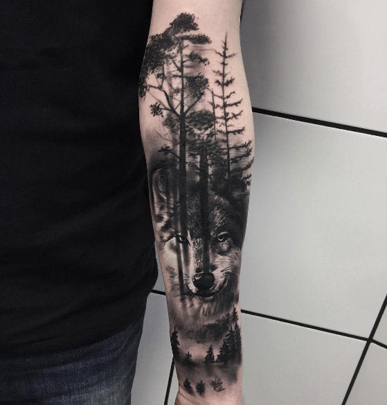 tree arm tattoo design
