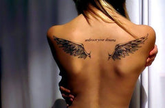 wings back tattoo