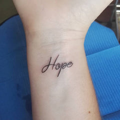 simple hope tattoo