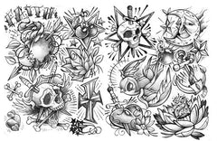 tattoo art collage