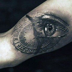 Eye abstract design collage tattoo art