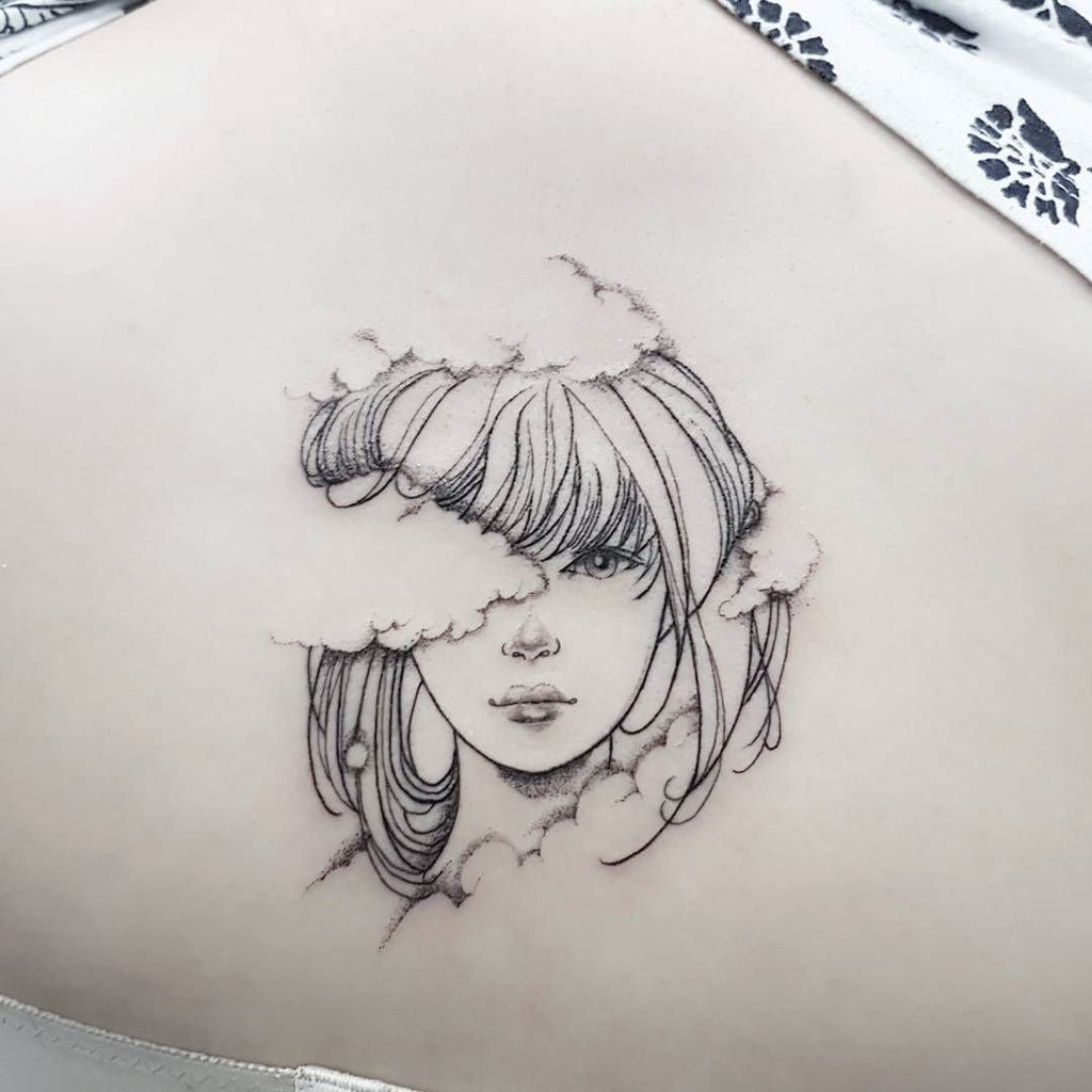 anime simple tattoo