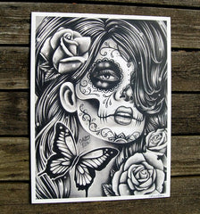 tattoo design woman face