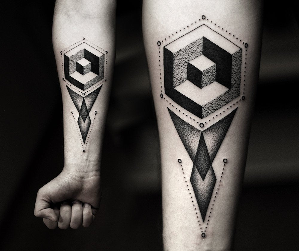 tattoo design geomtric shapes