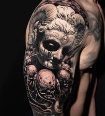 Demon full arm tattoo design