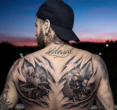 Guy backpiece tattoo design