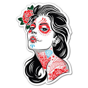 Classic woman tattoo design