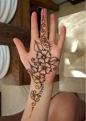 flower henna tattoo