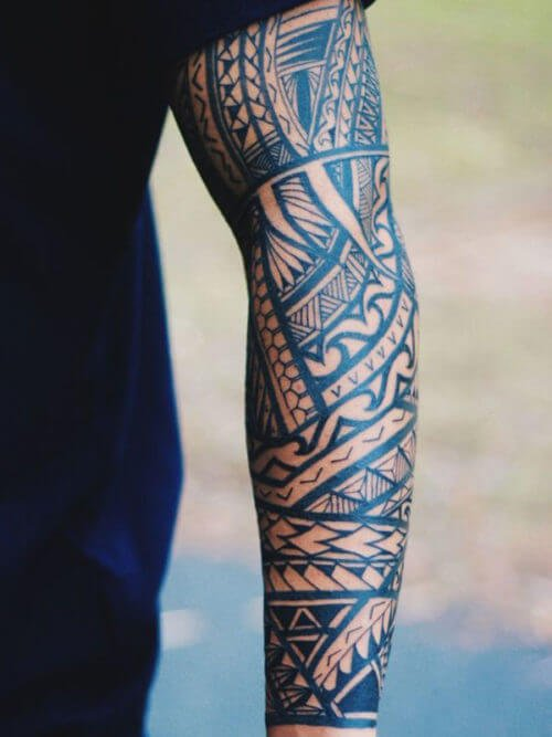 arm abstract henna design collage tattoo art