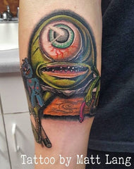 cartoon alien tattoo