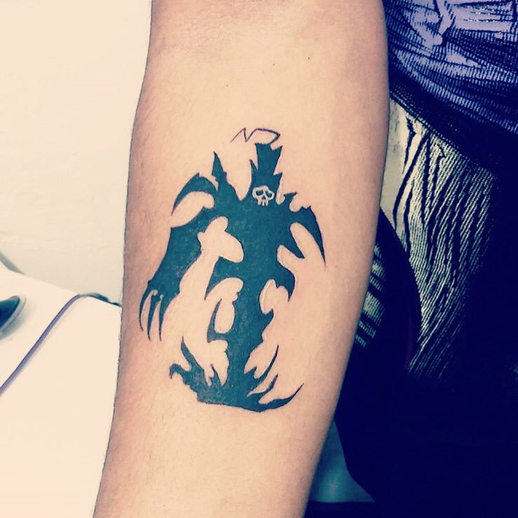 evil cartoon tattoo