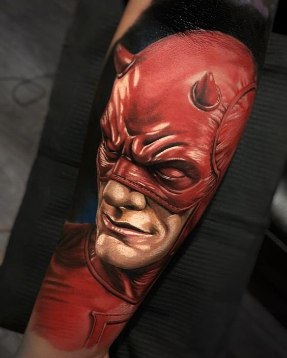 daredevil arm tattoo