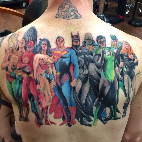 justice league tattoo