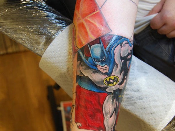 oldschool batman tattoo