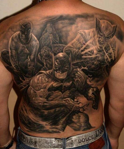 man backpiece tattoo